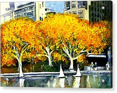 Toy Boats In The Park Acrylic Print
