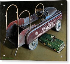 Toy Crossroads Acrylic Print by Doug Strickland