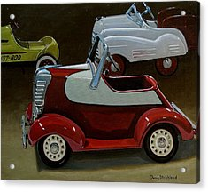 Toy Pedal Cars Acrylic Print by Doug Strickland