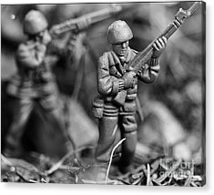 Toy Soldiers Acrylic Print by Randy Steele