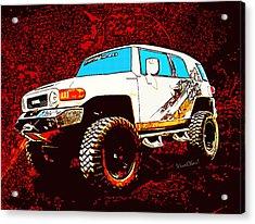 Toyota Fj Cruiser 4x4 Cartoon Panel From Vivachas Acrylic Print