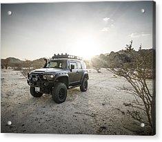 Toyota Fj Cruiser In Saudi Arabia Acrylic Print