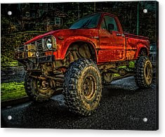 Toyota Grunge Acrylic Print
