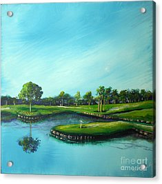 Tpc 17th Hole 2010 Acrylic Print by Michele Hollister - for Nancy Asbell