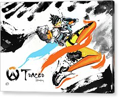 Tracer Overwatch Acrylic Print by Haze Long