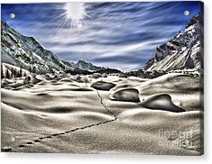 Traces Acrylic Print by Alessandro Giorgi Art Photography