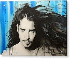 Chris Cornell - ' Track 12 ' Acrylic Print by Christian Chapman Art