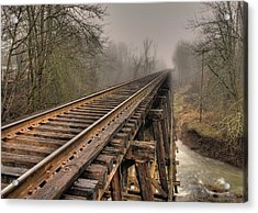 Track To Some Where Acrylic Print by Peter Schumacher