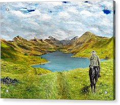 Acrylic Print featuring the painting Tracking Niseag by Kevin Daly