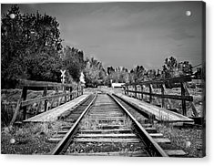 Tracks 2 Acrylic Print by Matthew Angelo