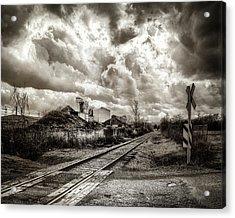 Tracks Into Logan Acrylic Print