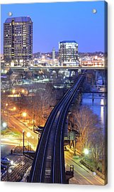 Tracks Into The City Color Acrylic Print