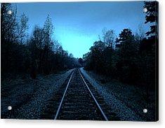 Tracks Of Dawn Acrylic Print by Nina Fosdick