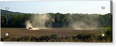 Acrylic Print featuring the photograph Tracteur Enfume by Marc Philippe Joly