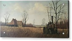 Acrylic Print featuring the painting Traction Engine. by Mike Jeffries