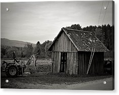 Tractor And Shed Acrylic Print by Mandy Wiltse