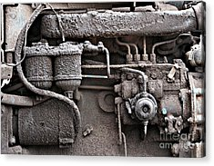 Acrylic Print featuring the photograph Tractor Engine II by Stephen Mitchell
