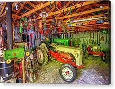 Tractor Garage Acrylic Print