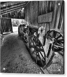 Tractor In Barn Acrylic Print