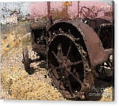 Acrylic Print featuring the digital art Tractor by Kelly McManus