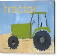 Tractor Acrylic Print by Laurie Breen