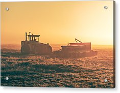 Tractor Morning Glow Acrylic Print