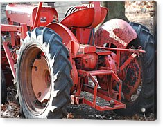 Tractor Acrylic Print by Peter  McIntosh