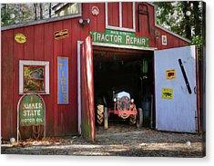 Tractor Repair Shop Acrylic Print by Lori Deiter