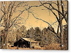 Tractor Shed Acrylic Print by Patricia Motley