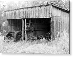 Tractor Shed Acrylic Print