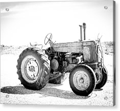 Acrylic Print featuring the photograph Tractor by Silvia Bruno