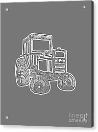 Tractor Transparent Acrylic Print by Edward Fielding