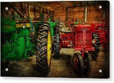 Tractors At Rest - John Deere - Mccormick - Farmall - Farm Equipment - Nostalgia - Vintage Acrylic Print