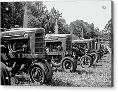 Tractors Acrylic Print by Brian Jones