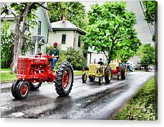Tractors On Parade Acrylic Print