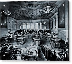 Trading Floor Of The Former New York Acrylic Print by Everett