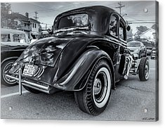 Tradional Hot Rod Acrylic Print by Ken Morris