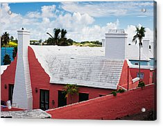 Traditional Bermuda Style House Acrylic Print by George Oze