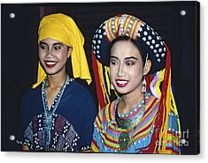 Acrylic Print featuring the photograph Traditional Dressed Thai Ladies by Heiko Koehrer-Wagner