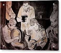 Traditional Irish Music Session Acrylic Print by Gerard Dillon