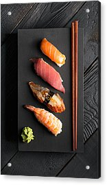 Traditional Japanese Sushi  Acrylic Print by Vadim Goodwill