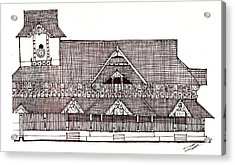 traditional Kerala house Acrylic Print by Farah Faizal