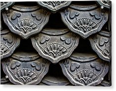 Traditional Korean Roof Tiiles Acrylic Print by Alex Barlow