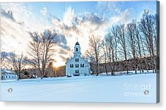 Acrylic Print featuring the photograph Traditional New England White Church Etna New Hampshire by Edward Fielding