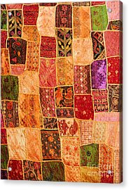 Traditional Patchwork Tapestry Acrylic Print by Grigorios Moraitis