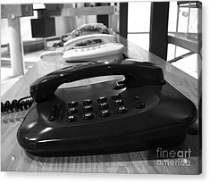 Traditional Telephones Acrylic Print by Yali Shi