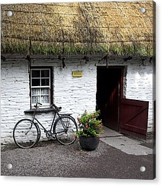 Traditional Thatch Roof Cottage Ireland Acrylic Print by Pierre Leclerc Photography