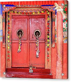 Traditional Tibetan Doors Acrylic Print