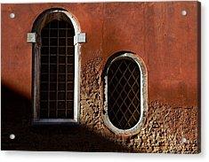 Traditional Venetian Windows Acrylic Print by George Oze