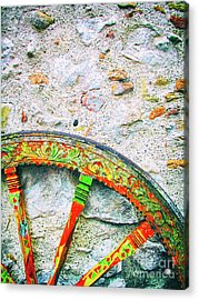 Traditional Sicilian Cart Wheel Detail Acrylic Print